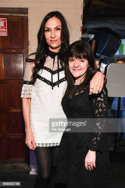 Famke Janssen and Madeleine Martin attend the 'Isle of Dogs' special screening after party at Troy Liquor Bar Dos Caminos on March 21 2018 in New...