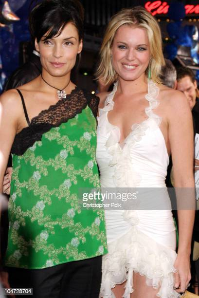 Famke Janssen and Rebecca RomijnStamos during 'X2 XMen United' Premiere Los Angeles Blue Carpet Arrivals at Grauman's Chinese Theatre in Hollywood...