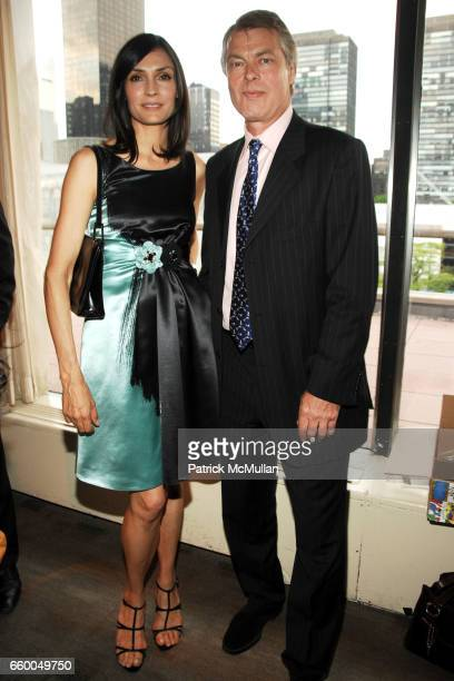 Famke Janssen and Richard Johnson attend WELCOME TO GULU EXHIBITION AND BENEFIT ART SALE ANTIHUMAN TRAFFICKING INNITIATIVE at The United Nations on...