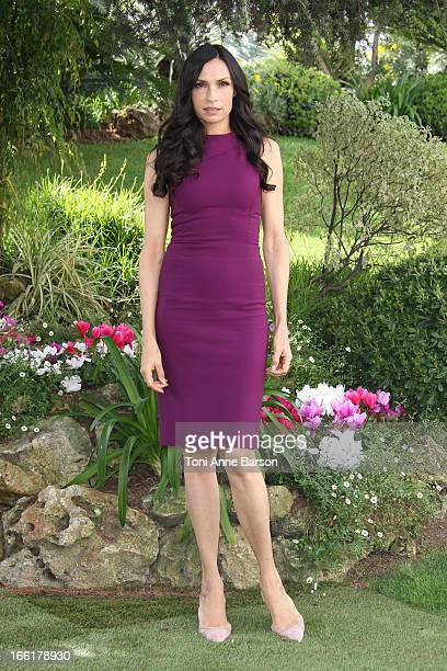 Famke Janssen attends 'Hemlock Grove' Photocall during MIPTV at the Majestic Hotel on April 9 2013 in Cannes France