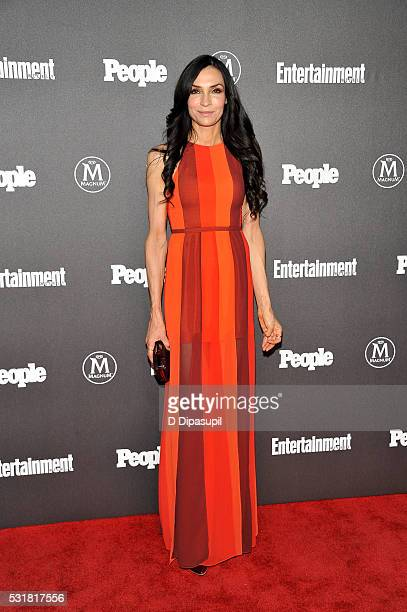 Famke Janssen attends the Entertainment Weekly and People New York Upfronts Celebration at Cedar Lake on May 16 2016 in New York City