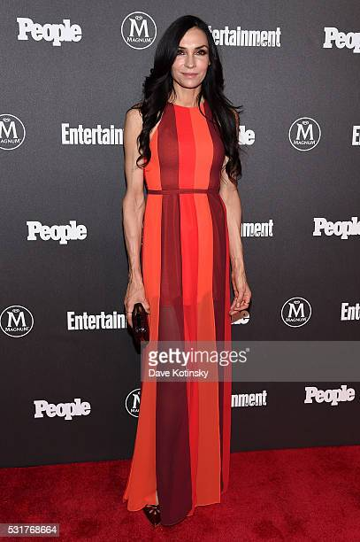 Famke Janssen attends the Entertainment Weekly People Upfronts party 2016 at Cedar Lake on May 16 2016 in New York City