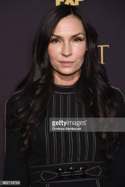 Famke Janssen attends the FX Networks' 'Trust' New York Screening at Florence Gould Hall on March 14 2018 in New York City