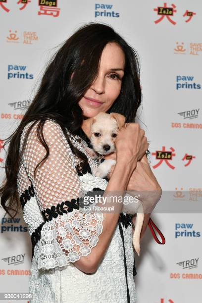 Famke Janssen attends the 'Isle of Dogs' special screening at IFC Center on March 21 2018 in New York City
