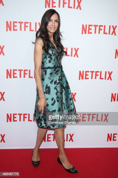 Famke Janssen attends the 'Netflix' Launch Party At Le Faust In Paris on September 15 2014 in Paris France