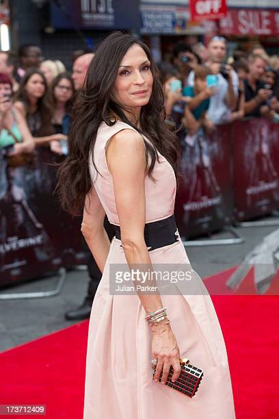 Famke Janssen attends the UK Premiere of 'The Wolverine' at Empire Leicester Square on July 16 2013 in London England