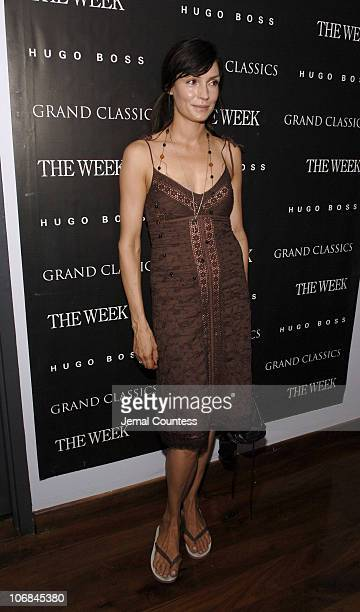 Famke Janssen during Grand Classics Film Series Screening of 'Kes' Hosted by Daniel DayLewis and Rebecca Miller at Soho House Screening Room in New...