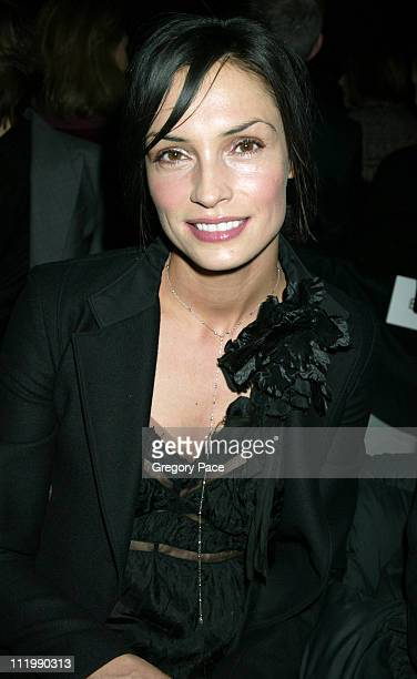 Famke Janssen during Narciso Rodriguez Fall 2003 Fashion Show at Bryant Park Tents in New York NY United States