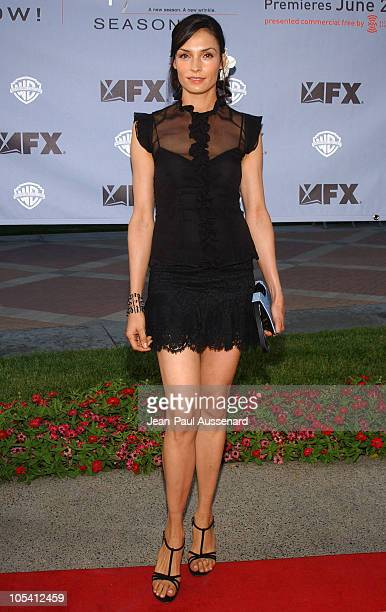 Famke Janssen during Nip/Tuck Season Two Premiere Arrivals at Paramount Theatre in Los Angeles California United States