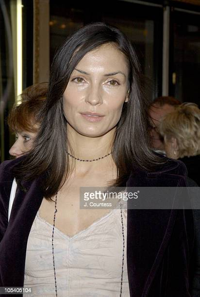 Famke Janssen during Opening Night of Jumpers Arrivals at Brooks Atkinson Theater in New York City New York United States