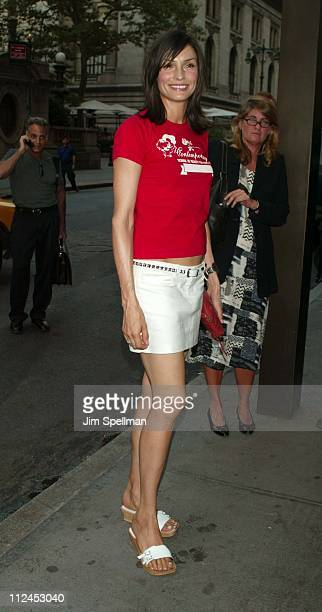 Famke Janssen during Searching For Debra Winger Screening Hosted by InStyle Outside Arrivals at Bryant Park Screening Room in New York City New York...