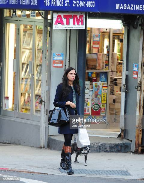 Famke Janssen is seen in Soho on April 21 2014 in New York City
