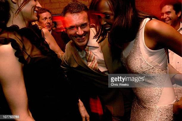 Famke Janssen Julian McMahon and Aisha Tyler during 'Nip/Tuck Season 2' Premiere Afterparty at The Forbidden City in Los Angeles California United...