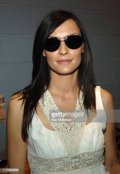 Famke Janssen wearing Giorgio Armani 337s Black during Solstice Sunglass Boutique at Hollywood Life Magazine's 5th Annual Breakthrough of the Year...