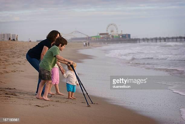 Famliy on beach