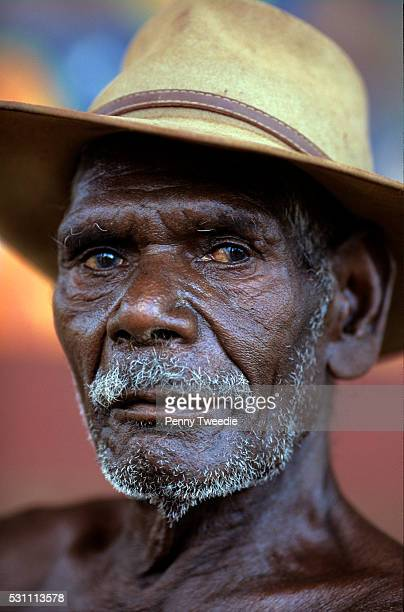 Famous Aboriginal artist David Malangi Yathalamarra Arnhem Land