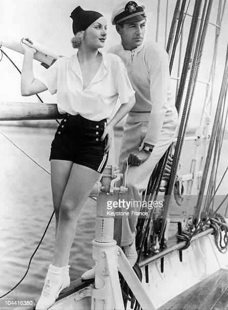 Famous American actors Carole LOMBARD and Gary COOPER took advantage of a break between two film shootings to go on a cruise in the Pacific, on May...