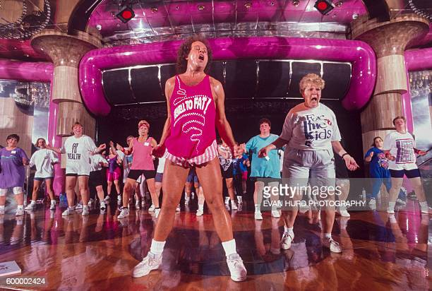 Famous American fitness coach Richard Simmons during his Cruise to Lose which sails through the Caribbean