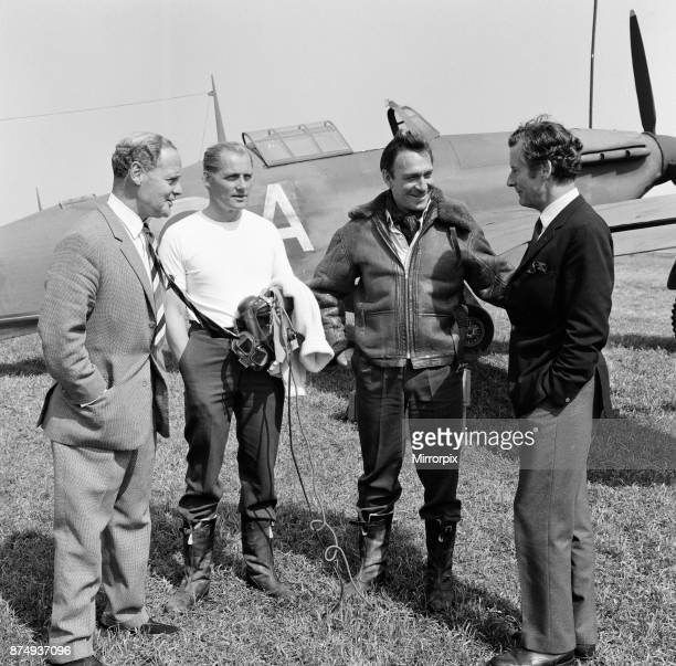 Famous Battle of Britain pilots visited the RAF station at Duxford near Cambridge today where the 'Battle of Britain' film is being made The station...