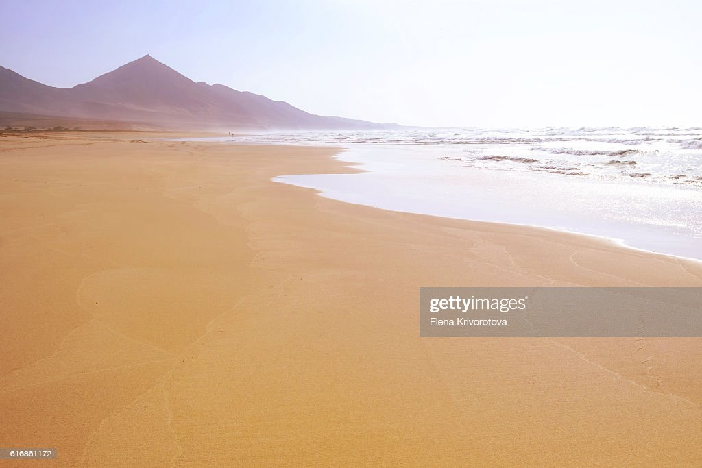 Famous beach Cofete in Fuerteventura. : Stock Photo
