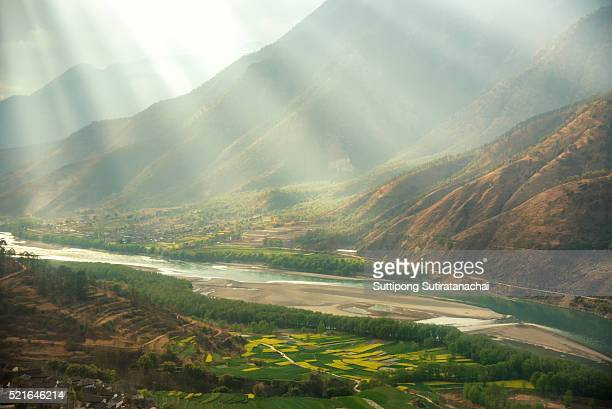A famous bend of yangtze river in Yunnan Province,