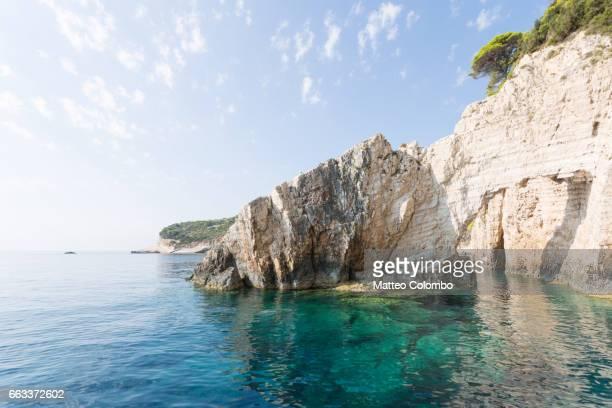 Famous blue caves in the island of  Zakynthos, Greek Islands, Greece