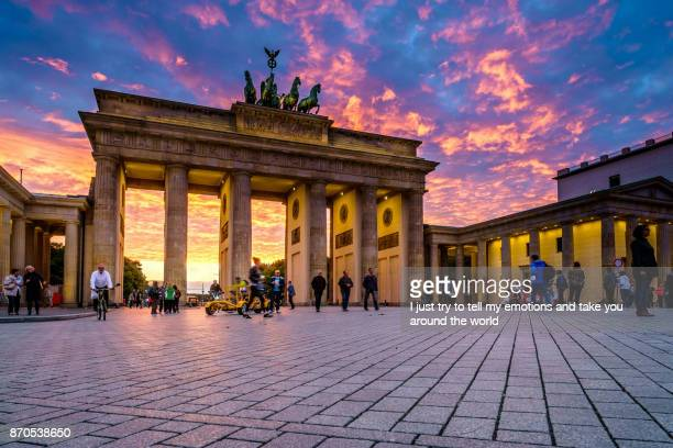 BERLIN, GERMANY - SEPTEMBER 23, 2015: Famous Brandenburger Tor (Porta di Brandeburgo), Germany