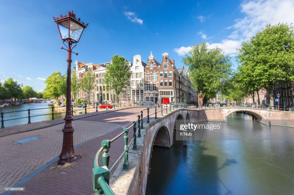 Famous Bridge And Apartment House Along The C Or River For Cruise Boat Transportation