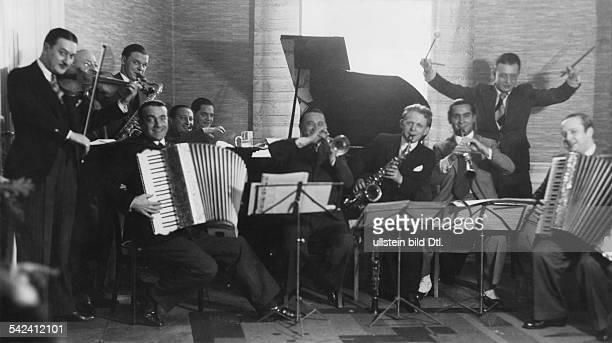 Famous conductors form a bandBill Bartholomew Franz Grothe Bela Bigony Dajos Bela Efim Schachmeister Bernard Ette Ilja Livschakoff Otto Stenzel Paul...