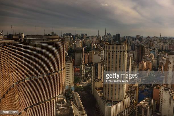 Famous Copan building by architect Oscar Niemeyer in Sao Paulo old Center, Brasil.