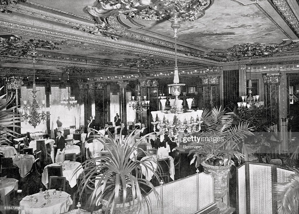 Famous Dining Room Of The Hotel Savoy.