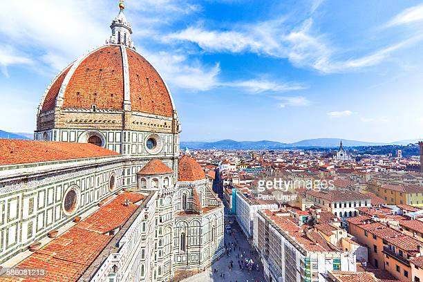 famous dome of florence, italy - florence italy stock pictures, royalty-free photos & images