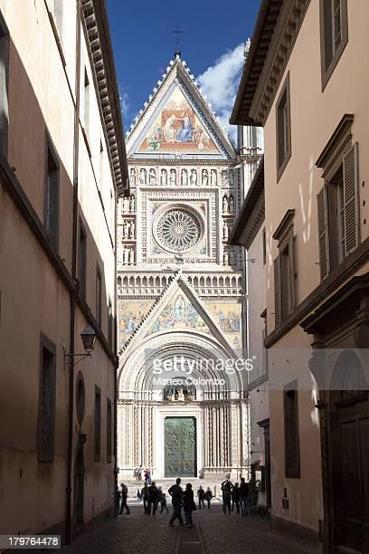 Famous duomo di Orvieto in Umbria Italy