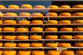 famous dutch cheese shelves store window