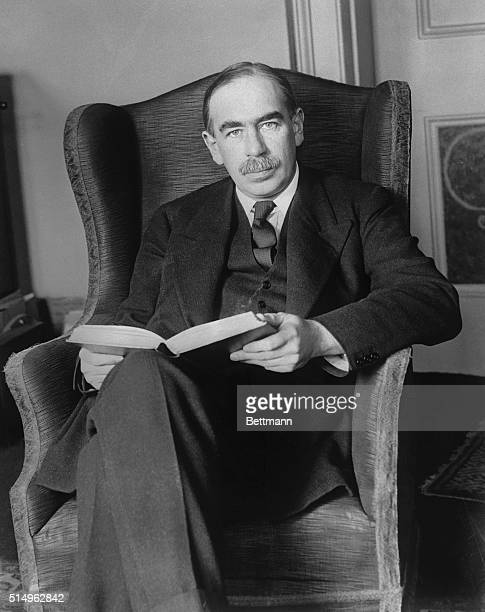 Famous economist predicts Liberal win in election...Mr. J. Maynard Keynes, the famous economist pictured at his home in London, predicts that the...