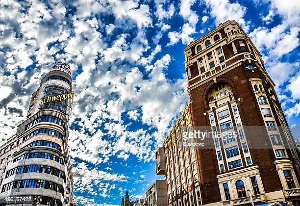 Famous Edificio Carrion in Madrid, Spain