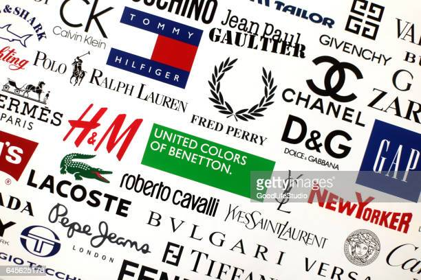 famous fashion brands - brand name stock pictures, royalty-free photos & images