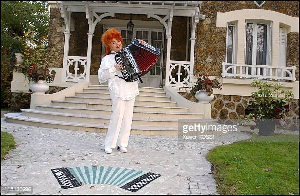 Famous French accordionist Yvette Horner in Nogent Sur Marne France in November 2001