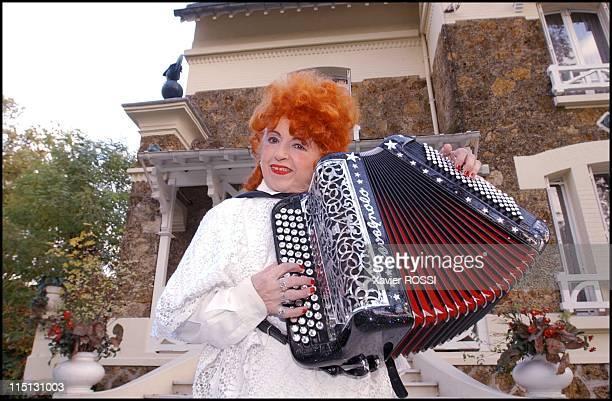 Famous French accordionist Yvette Horner in Nogent Sur Marne France in November 2001