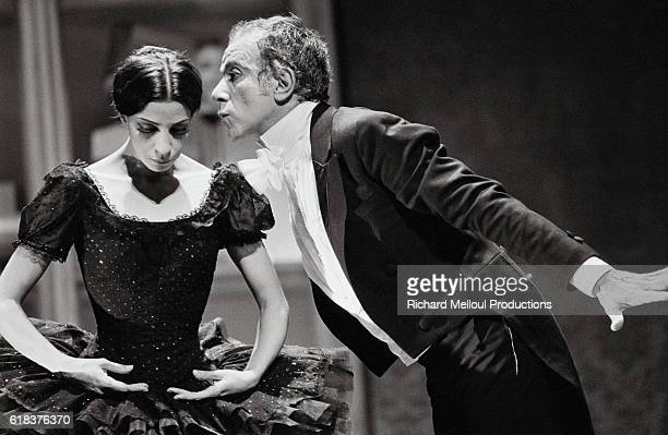 Famous French dancer and choreographer Roland Petit and Canadian ballerina Karen Kain perform in Coppelia, playing the respective roles of Dr....