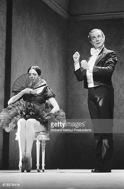 Famous French dancer and choreographer Roland Petit and Canadian ballerina Karen Kain perform in Coppelia playing the respective roles of Dr...
