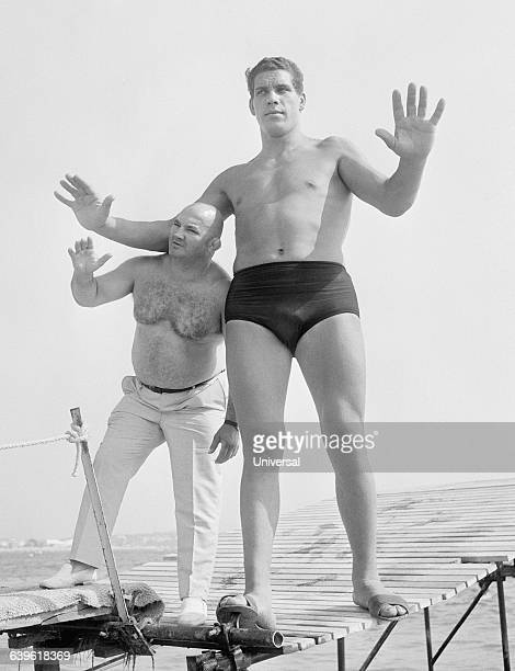 Famous French wrestlers CheriBibi and Andre Roussimoff best known as Andre the Giant At 19 Andre stands 7 feet and 4 inches tall