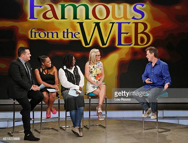 THE VIEW 'Famous from the Web' with guest cohosts Ross Mathews and 'Kid President' Robby Novak internet prankster Jack Vale the singing janitor tips...