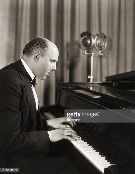 Famous German pianist Walter Geiseking at the piano Undated photograph