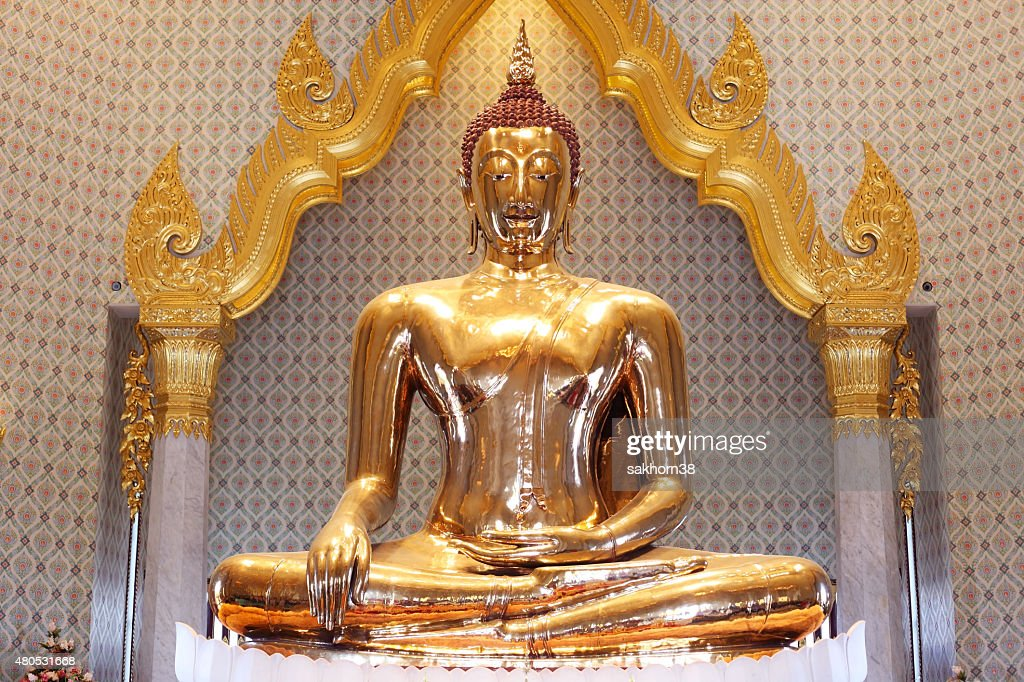 famous golden buddha in thailand : Stock Photo