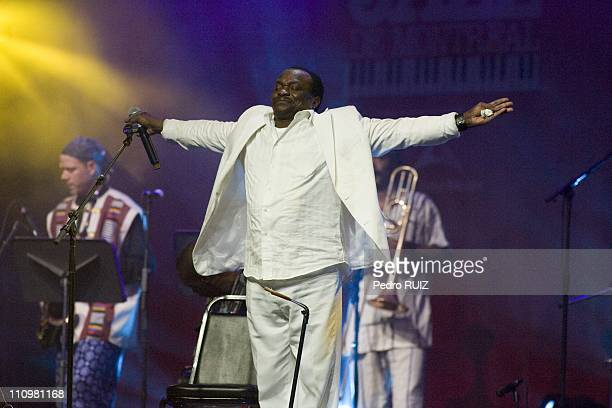 Famous guinean singer Mory Kante at Montreal International Jazz Festival closure party in Montreal Canada in July 6th 2008 He's the first african...