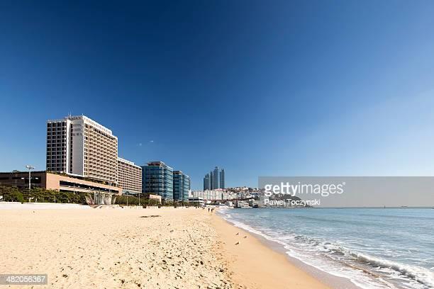 Famous Haeundae Beach and affluent waterfront