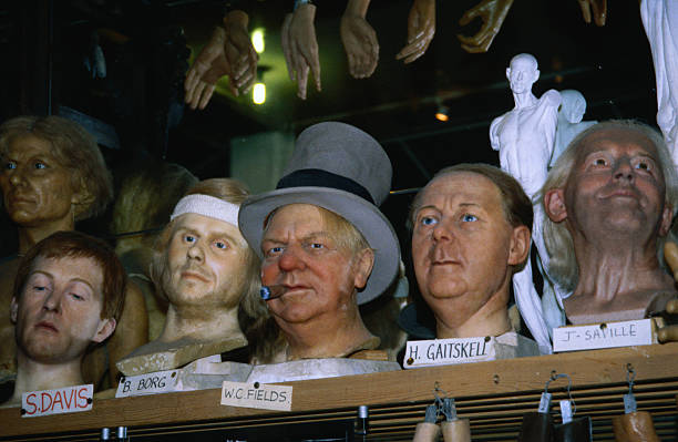 Famous heads including Bjorn Borg and WC Fields at Madame Tussaud's Wax Museum - London, Greater London, England