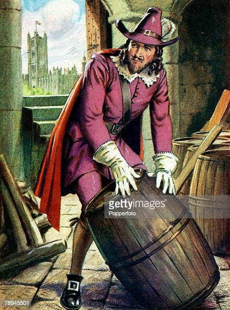 Famous Historical Scenes Colour Illustration pic 1605 Guy Fawkes the most famous of the conspirators who attempted to destroy the Houses of...