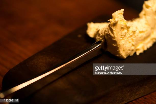 Famous Icelandic skyr butter served with a knife